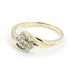 Charming Ladies 10K Yellow Gold Diamond 0.30CTW Right Hand Ring Jewelry