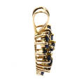 Fine Vintage Estate 14K Yellow Gold Blue Spinel 0.35CTW Cluster Heart  Pendant