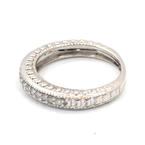Vintage Classic Estate Ladies 10K White Gold Diamond Ring Band - 0.35CTW