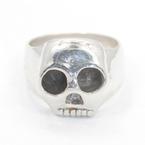 Modern Estate 925 Sterling Silver Skull Design Ring Size 7.25