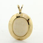 Classic Retro Vintage 10K Yellow Gold Opal Pendant Jewelry
