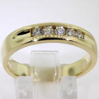 Handsome Men's Estate 14K Gold Authentic Diamonds Ring Band Jewelry