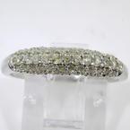 Charming Ladies 14K White Gold Diamond Pave Set 1.25CTW Ring Band Jewelry