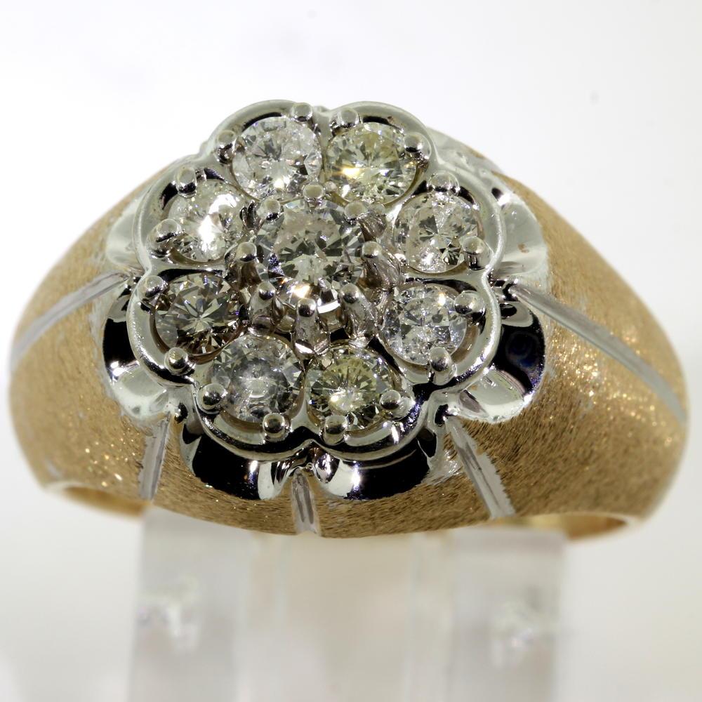 Fine vintage estate men 39 s 14k yellow gold diamond for Lindenwold fine jewelers jewelry showroom price