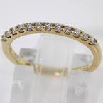 Brilliant Ladies 18K Yellow Gold Diamond 0.30CTW Ring Band Jewelry
