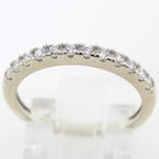 Classic Ladies 14K White Gold Cubic Zirconias  Ring Band Jewelry