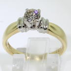 Exquisite Ladies 14K Yellow Gold Diamond 0.50CTW  Solitaire Engagement Ring