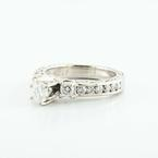 Magnificent 18K White Gold Round Diamond Engagement Wedding Ring
