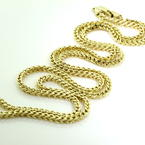Lustrous Men's 10K Yellow Gold 22 inch Franco Chain Lobster Claw Clasp Jewelry