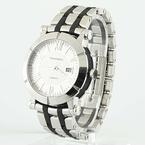 Authentic Tiffany & Co Atlas Stainless Steel Rubber Automatic Mens 42mm Watch