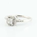 Admirable 14K White Gold Diamond Engagement Ring