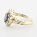 Alluring 14K Yellow Gold Marquise Sapphire Diamond Ring