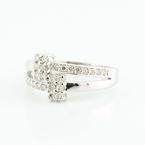 Sublime 14K White Gold Round Diamond Bypass Ring