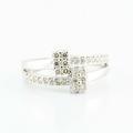 Sublime 14K White Gold Round Diamond Bypass Ring