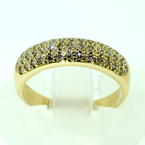 Charming Ladies Vintage 14K Yellow Gold Diamond Pave Set 0.60CTW Ring Band Jewelry