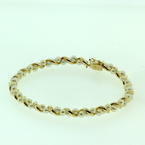 "Classic Vintage 10K Yellow Gold 8"" Seed Pearl Bracelet Jewelry"