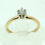 Classic Ladies 14K Yellow Gold Diamond 0.25CTW Solitaire Engagement Ring Jewelry