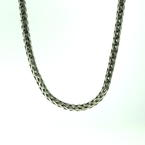 "Lustrous Estate 925 Sterling Silver 16"" Wheat Chain Jewelry"