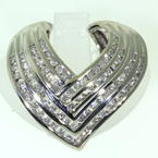 Scintillating Ladies 14K White Gold Diamond 1.35CTW Slide Pendant Jewelry