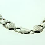 Handsome Men's 925 Silver Cuban Bracelet Jewelry