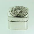 Vintage Sterling Silver 925 Aztec Calendar Pill Box Made in Mexico