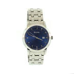 Handsome Men's Bulova Blue Face Stainless Steel Quartz Wrist Watch 96B197