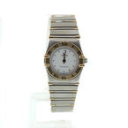 Omega Constellation Quartz 18K gold/ stainless steel Ladies Watch