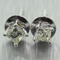 Classic Ladies 18K White Gold Princess Cut Diamond 0.32CTW Stud Earrings Jewelry