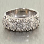 Charming Ladies 14K White Gold Diamond 0.65CTW Ring Hand Ring Band Jewelry