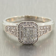 Charming Ladies10K White Gold Diamond 0.65CTW Engagement Ring Jewelry