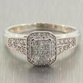 Charming Ladies10K White Gold Diamond 0.65CTW Engagement Ring Jewelry