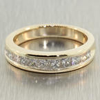 Stunning Ladies 14K White Gold Diamond 1.25CTW Ring Band Jewelry