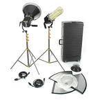 Tiffen LowelScandles Fluorescent Two Light 5300K LSF-92DA & LSF-92TU Kit