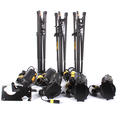 DedoLight Kit 3 Tungsten Light Heads, 3 Stands, 3 Dimmable Electronic Power Supply