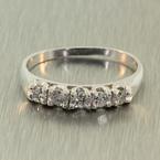 VIntage Classic Estate Ladies Platinum Diamond Ring Jewelry - 0.35CTW