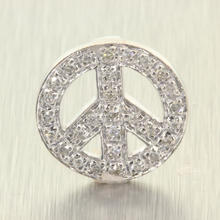 Charming Ladies 14K White Gold Diamond Peace Pendant Jewelry