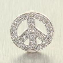 Charming Ladies 14K White Gold Diamond Peace Pendant Jewelry
