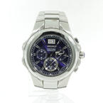 Men's Seiko Coutura SPC061 Chronograph Blue Dial Stainless Steel Watch
