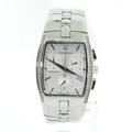 Men's Bulova Accutron 26E11 diamond bezel Stainless Steel Chronograph Date Watch