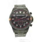 Handsome Michael Kors Men's MK8332 Gage Black Stainless Steel Chronograph Watch