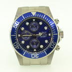 Men's Invicta 1769 Pro Diver Stainless Steel Blue Dial/Bezel Chronograph Dive Watch