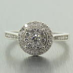 Modern Ladies 14K White Gold Natural Diamond 0.60CTW Engagement Ring Jewelry