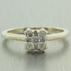 Stunning 14k White Gold Natural Diamond 0.25CTW Engagement Ring Jewelry
