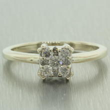 Stunning 14k White Gold Diamond 0.25CTW Engagement Ring Jewelry
