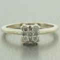 Stunning 14k White Gold Diamond 0.25CTW Engagement Ring Jewelry