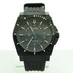 Men's Bulova Precisionist Sport Analog Date Quartz Rubberband Black Watch 98B142