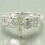 Spectacular Ladies 14K White Gold Marquise Diamond 1.50CTW Engagement Wedding Ring Jewelry