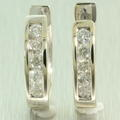Charming Ladies 14K White Gold Diamond 0.70CTW Hoop Earrings Jewelry