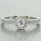 Classic Ladies 14K White Gold Natural Diamond 0.65CTW Engagement Ring Jewelry