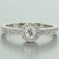 Stunning Ladies 14K White Gold Diamond 0.65CTW Engagement Ring Jewelry